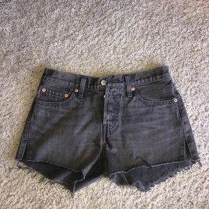 Levi's Gray split hem shorts surfs up NWT size 27
